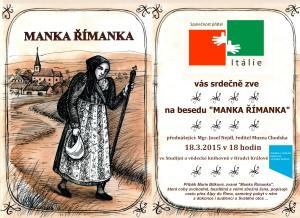 pozvánka Manka Římanka